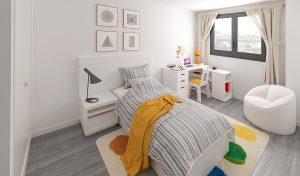 dormitorio infantil edificio escuelas cadrete